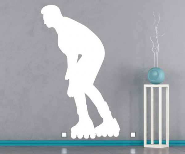 Wandtattoo - Inliner & Skateboard - Silhouette / Schattenmotiv   7