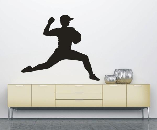 Wandtattoo - Baseball - Silhouette / Schattenmotiv   2