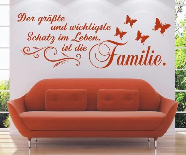 Wandtattoo - Der größte und wichtigste Schatz im Leben, ist die Familie! - Variante 8