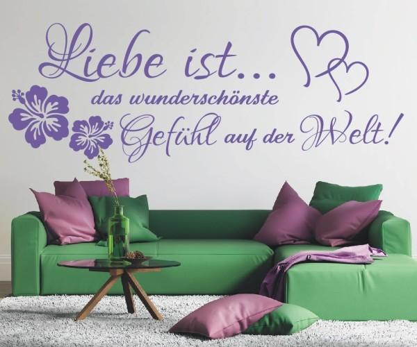 Wandtattoo - Liebe ist... das wunderschönste Gefühl auf der Welt! | 3