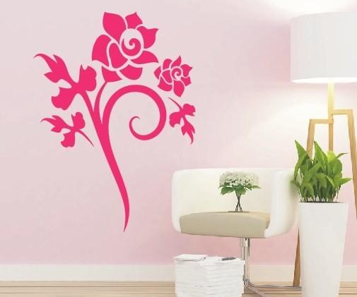 Wandtattoo - Blumenmotiv / Blumenranke - Variante 52