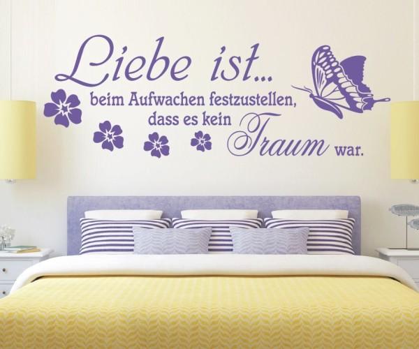 Wandtattoo - Liebe ist... beim Aufwachen festzustellen, dass es kein Traum war. | 4