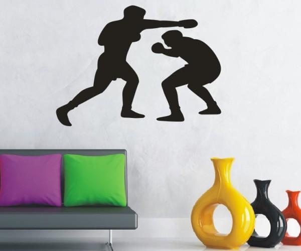Wandtattoo - Kampfsport - Silhouetten / Schattenmotiv - Variante 7