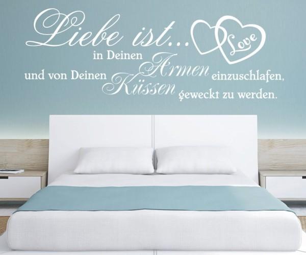 Wandtattoo - Liebe ist... in Deinen Armen einzuschlafen, und von Deinen Küssen geweckt zu werden. | 9