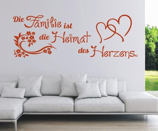 Wandtattoo - Die Familie ist die Heimat des Herzens. | 3