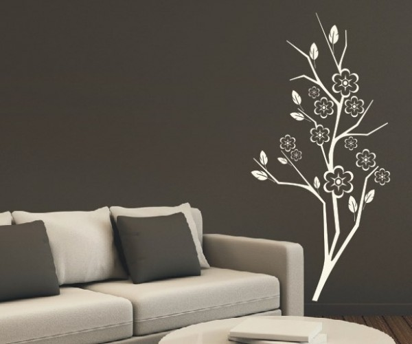 Wandtattoo - Blumenmotiv / Blumenranke - Variante 116