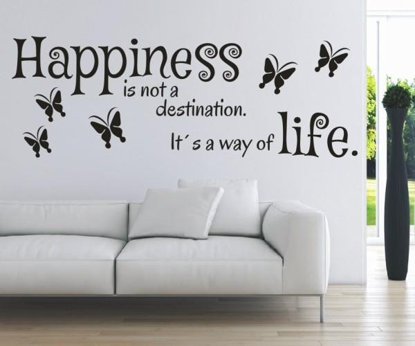 Wandtattoo - Happiness is not a destination. It´s a way of life. (Glück ist kein Ziel. Es ist eine Art zu Leben.) | 5