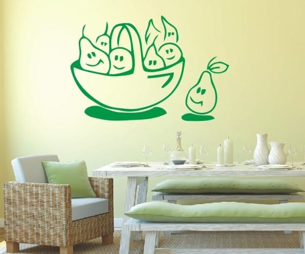 Wandtattoo - Küche - Tee Obstkorb Küche Esszimmer Obst Wandbild Wanddeko Bild