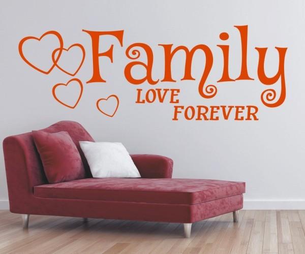 Wandtattoo - Family love forever   8