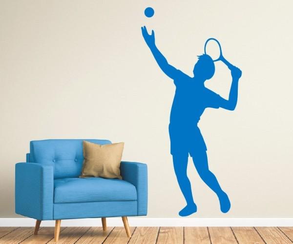 Wandtattoo - Tennis - Silhouette / Schattenmotiv - Variante 6