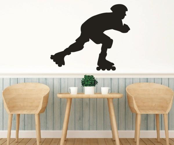 Wandtattoo - Inliner & Skateboard - Silhouette / Schattenmotiv - Variante 2