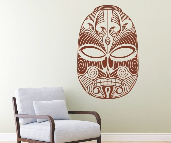 Wandtattoo - Maori - Maskenmotiv - Variante 6