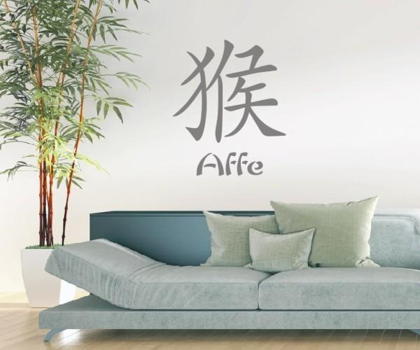 Wandtattoo - Chinesische Zeichen - Tierkreiszeichen/Sternzeichen - Variante 1