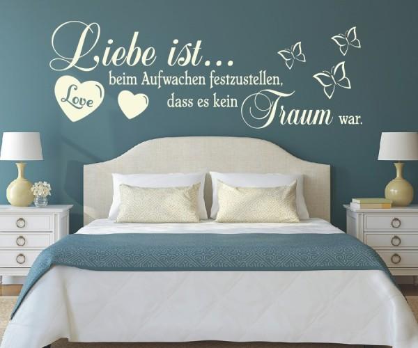 Wandtattoo - Liebe ist... beim Aufwachen festzustellen, dass es kein Traum war. | 7