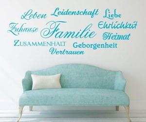 Wandtattoo, Sprüche, Zitate - Familie, Leben, Leidenschaft, Zuhause, Zusammenhalt, Heimat, Geborgenheit, Vertrauen, Ehrlichkeit, L - Variante 1