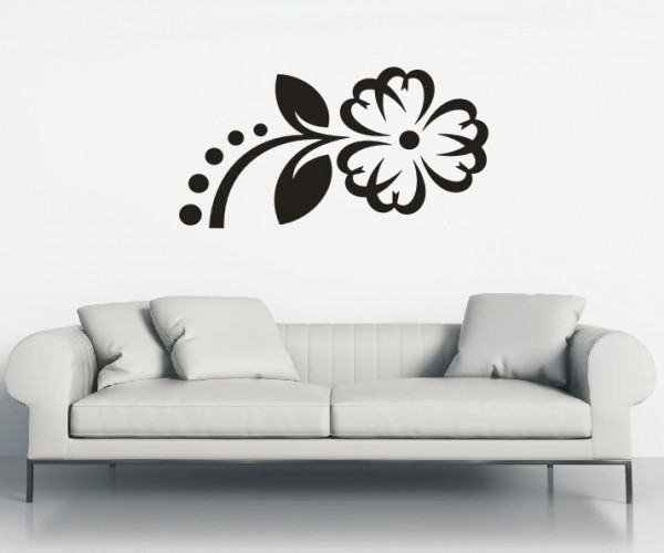 Wandtattoo - Blumenmotiv / Blumenranke   93