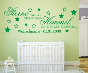 Wandtattoos Kinderzimmer kaufen auch mit Wunschtext mit Wunschnamen