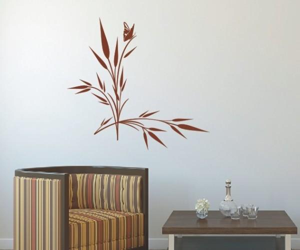 Wandtattoo - Blumenmotiv / Blumenranke - Variante 16