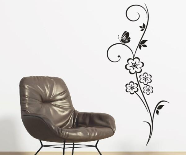 Wandtattoo - Blumenmotiv / Blumenranke - Variante 145