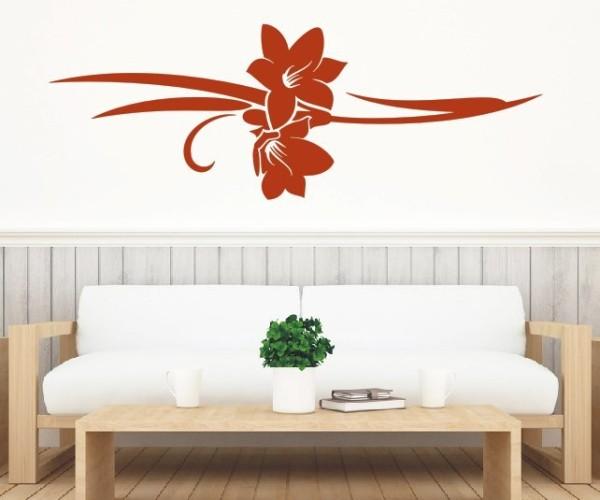 Wandtattoo - Blumenmotiv / Blumenranke - Variante 169