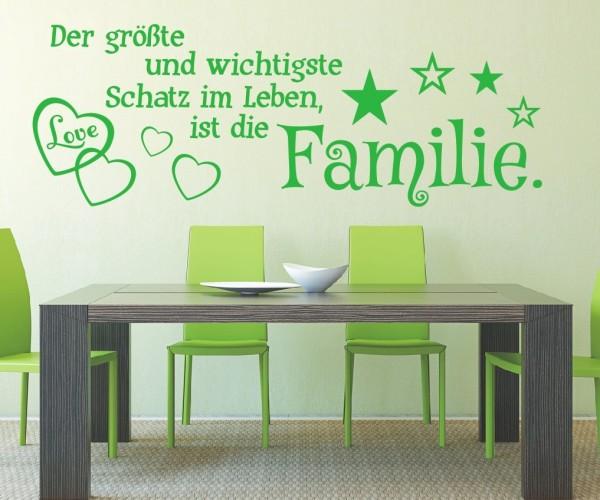Wandtattoo - Der größte und wichtigste Schatz im Leben, ist die Familie! - Variante 10