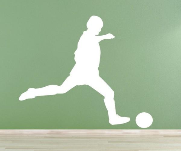 Wandtattoo - Fußball - Silhouetten / Schattenmotiv - Variante 1