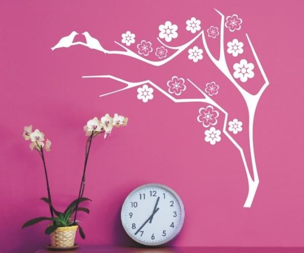 Wandtattoo - Blumenmotiv / Blumenranke - Variante 13