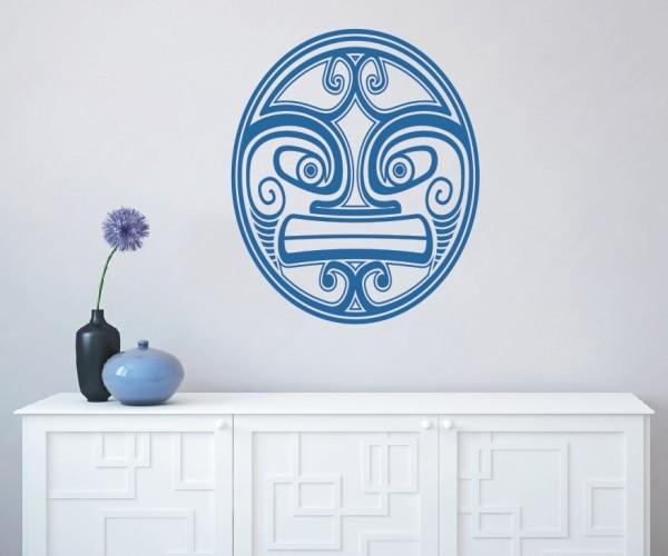Wandtattoo - Maori - Maskenmotiv - Variante 3