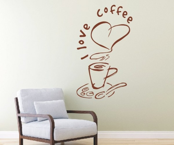 Wandtattoo - Küche - Tee Kaffee Küche Esszimmer Coffeshop Wandbild Wanddeko-17