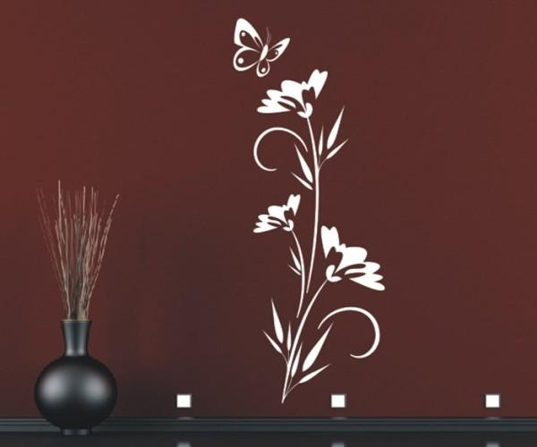 Wandtattoo - Blumenmotiv / Blumenranke - Variante 192