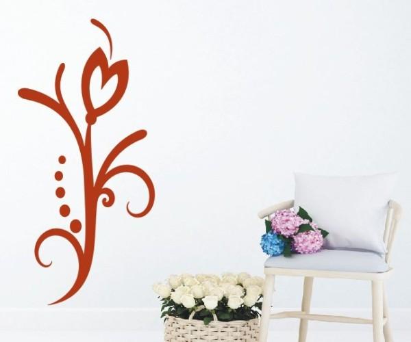 Wandtattoo - Blumenmotiv / Blumenranke | 117