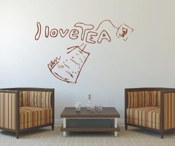 Wandtattoo - Küche - Tee Kaffee Küche Esszimmer Teekanne Wandbild Wanddeko-1