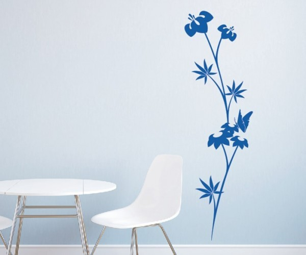 Wandtattoo - Blumenmotiv / Blumenranke - Variante 218