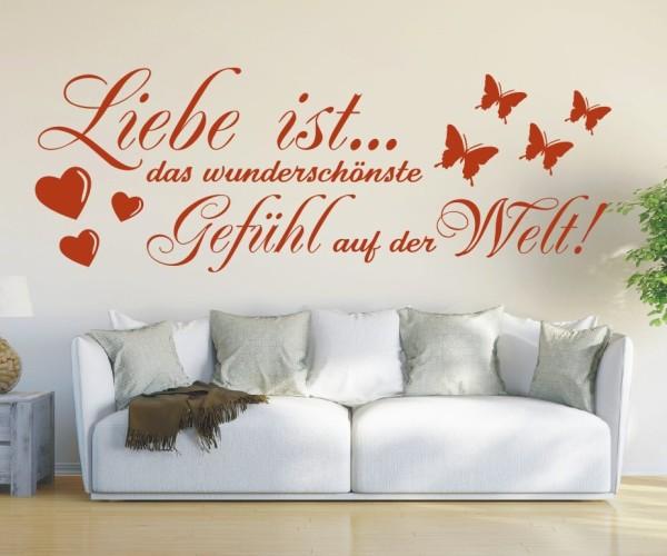 Wandtattoo - Liebe ist... das wunderschönste Gefühl auf der Welt! - Variante 4