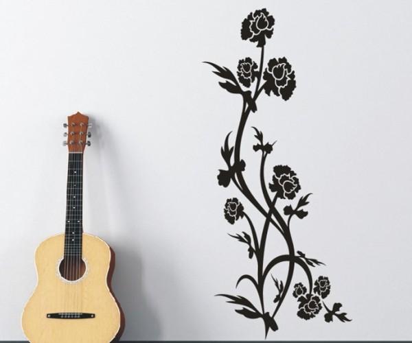 Wandtattoo - Blumenmotiv / Blumenranke - Variante 148