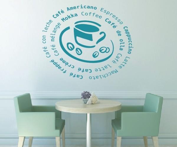 Wandtattoo - Küchen Wandtattoo - Tee Kaffee Küche Esszimmer Coffeshop Wandbild Wanddeko-14