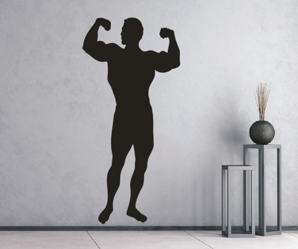 Wandtattoo - Bodybuilding / Kraftsport - Silhouette / Schattenmotiv - Variante 3