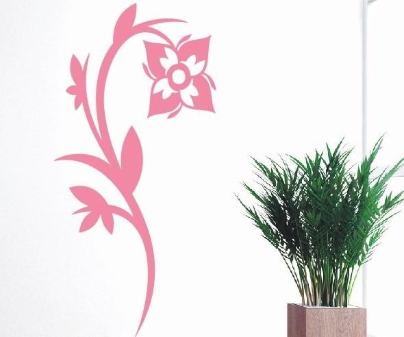 Wandtattoo - Blumenmotiv / Blumenranke - Variante 123