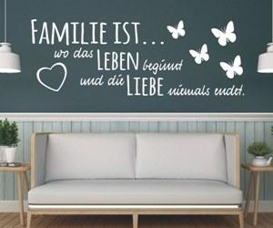 Wandtattoo Sprüche kaufen für Familie & Zuhause
