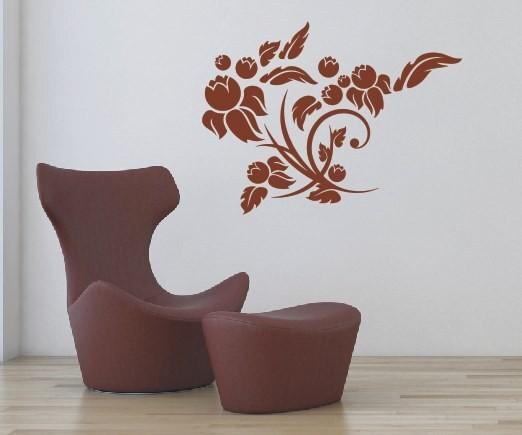 Wandtattoo - Blumenmotiv / Blumenranke - Variante 60