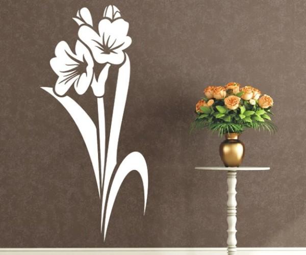 Wandtattoo - Blumenmotiv / Blumenranke - Variante 146