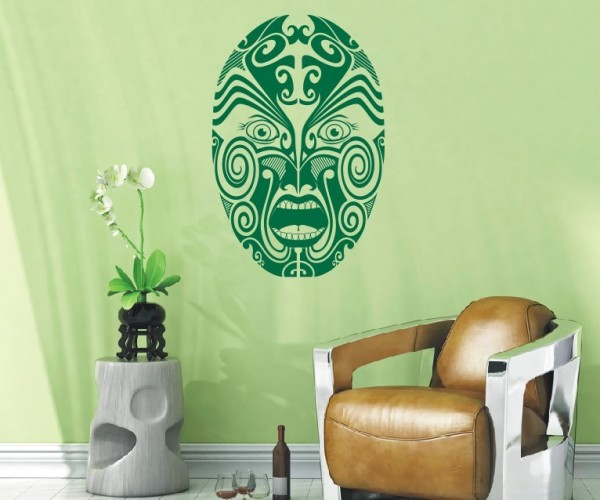 Wandtattoo - Maori - Maskenmotiv - Variante 5