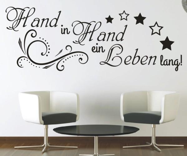 Wandtattoo - Zusammen Hand in Hand ein Leben lang! - Variante 4