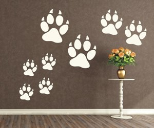 Wandtattoo und Wandsticker kaufen - Hunde- & Katzenpfoten - mehrteilige Sets
