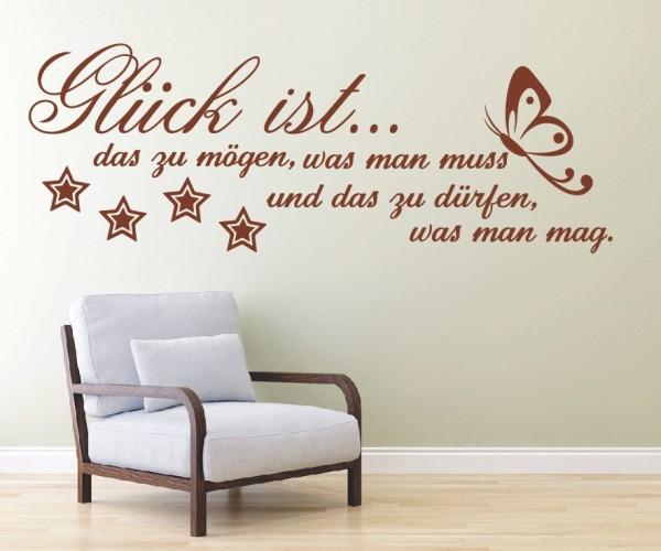 Wandtattoo - Glück ist... das zu mögen, was man muss und das zu dürfen, was man mag. | 4