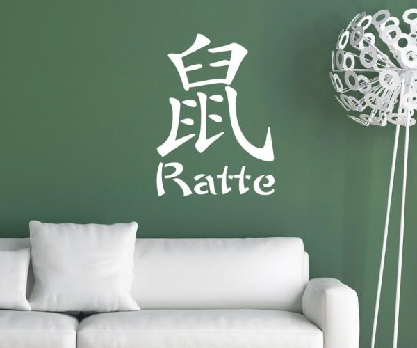 Wandtattoo - Chinesische Zeichen - Tierkreiszeichen/Sternzeichen - Variante 2