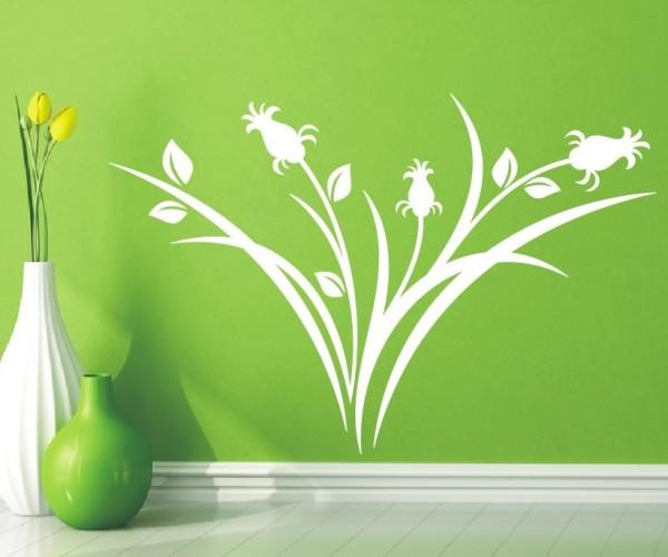 Wandtattoo - Blumenmotiv / Blumenranke - Variante 67