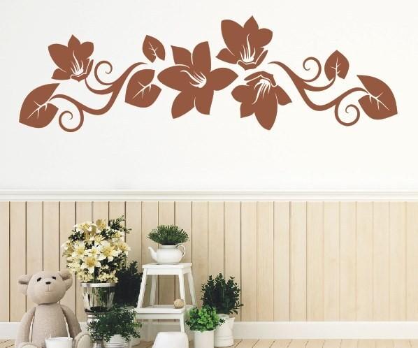 Wandtattoo - Blumenmotiv / Blumenranke - Variante 201