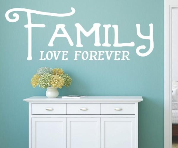 Wandtattoo - Family love forever - Variante 7