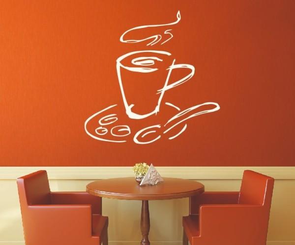 Wandtattoo - Küchen Wandtattoo - Tee Kaffee Küche Esszimmer Coffeshop Wandbild Wanddeko-8